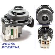 302796 !WASH MOTOR/PUMP 60w 220-240V(45CM) + SEAL, зам.272798 {1171}